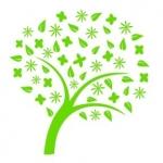 Naklejka welurowa dekoracyjna Drzewo z listkami W11