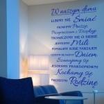 Szablon ścienny napis W naszym domu S20
