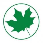 Naklejka na samochód Zielony listek na folii magnetycznej A4