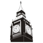 Naklejka Zegar Big Ben na ścianę M17