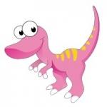 Naklejka na ścianę Dinozaur K1