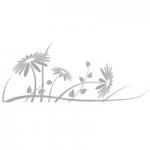 Naklejka na szyby Kwiatki O20