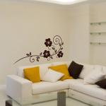 Welurowa naklejka na ścianę Motyw roślinny W4