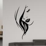 Szablon do dekoracji Kobieca twarz S5
