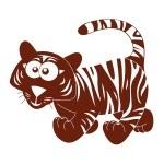Naklejka welurowa na ścianę Tygrysek W4