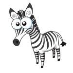 Naklejka na ścianę dla dziecka Zebra K13