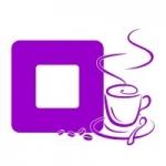 Naklejka welurowa pod kontakt z filiżanką kawy W6