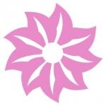 Naklejka dekoracyjna na kafelek Kwiatek K4