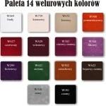 Próbka koloru welurowego