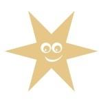 Naklejka ścienna Uśmiechnięta gwiazdka M4