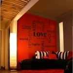 Naklejki napisy po angielsku Love, Luck, Home ...  M24