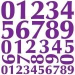 Naklejki ścienne Zestaw cyferek M12