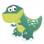 Naklejka dekoracyjna Dinozaur K7