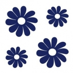 Naklejki na kafelki Kwiatki K1