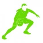 Naklejka dekoracyjna Koszykarz M16
