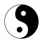 Naklejka ścienna Symbol Yin Yang M6