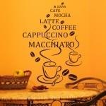 Szablony dekoracyjne Filiżanki kawy z napisami S17
