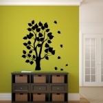 Naklejka dekoracyjna Drzewo z listkami M9