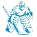 Naklejka na ścianę Bramkarz drużyny hokeja M12