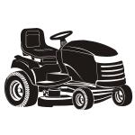Szablon malarski Traktor do trawy S17