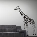 Welurowa naklejka Żyrafa W6