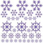 Naklejki ścienne Płatki śniegu M16