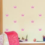 Naklejki do pokoju dziewczynki Korony M23