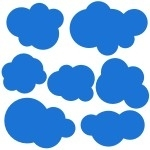 Naklejki dekoracyjne Zestaw chmurek M22