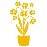 Naklejka dekoracyjna Kwiat w doniczce M38