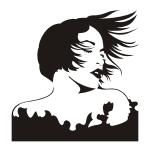 Naklejka na ścianę Kobieta, twarz nr M29
