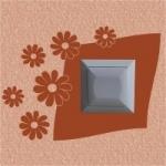 Welurowa naklejka pod kontakt z kwiatkami W15