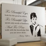 Szablony do dekoracji cytaty Audrey Hepburn S10