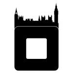 Naklejka pod włącznik z miastem Londyn M54