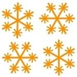 Naklejki ścienne Zimowe śnieżki M1