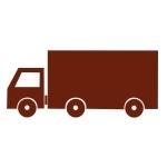 Welurowa naklejka dekoracyjna Samochód ciężarowy W18