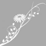 Folia na okno Kwiat O7