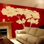 Naklejka do dekoracji Drzewo sosna nadmorska M38