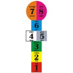 Naklejka podłogowa Gra w klasy z językiem angielskim K1