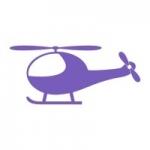 Welurowa naklejka dekoracyjna Helikopter W15