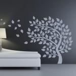 Naklejka welurowa na ścianę Drzewo jesienne W21