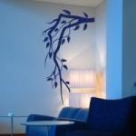 Naklejka welurowa na ścianę Gałązka z listkami W14