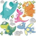 Naklejki ścienne Dinozaury K5