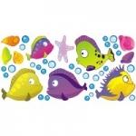 Zestaw łazienkowy Naklejki Podwodny świat K20