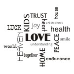 Napisy po angielsku szablony Love, Heart, Luck S13