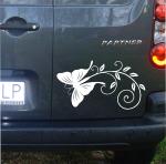 Naklejka dekoracyjna na samochód z motylkiem A3