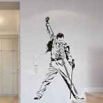 Naklejka na ścianę Freddie Mercury M5