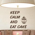 Naklejka z weluru napisy Keep calm... W19