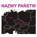 Naklejki welurowe z Nazwami państw W22