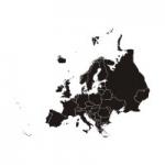 Welurowa naklejka na ścianę Mapa Europy W20