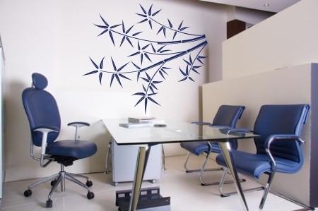 Bambus liściasty na ścianę